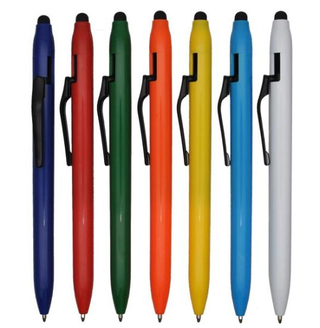 Designed Clip Touch Screen Plastic Ball Pen with Customized Logo