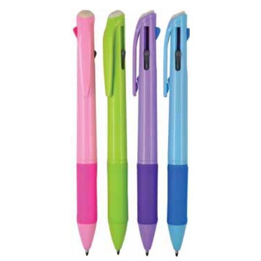 Multi-Colour Plastic Ballpoint Pen with Customized Logo